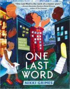 One last word Nikki Grimes - books for 6th graders