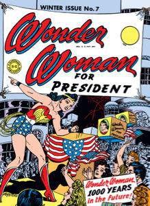 "Wonder Woman #7 cover ""Wonder Woman for President"""
