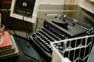 antique typewriter guest book