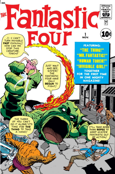 First issue of the Fantastic Four Comic 1961 https://www.marvel.com/comics/issue/12894/fantastic_four_1961_1