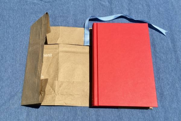 Make Book Cover Construction Paper : How to make a paper bag book cover with step by