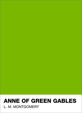 Anne of Green Gables with a bright green cover from Puffin + Pantone