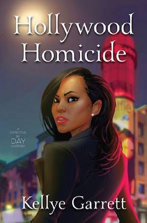 Hollywood Homicide book cover: painting of young black woman looking over her shoulder