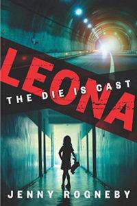 Leona book cover: a street tunnel faded into a hallway with a little girl's silhouette