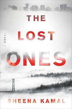 The Lost Ones book cover: black and white landscape with city buildings faded in at top
