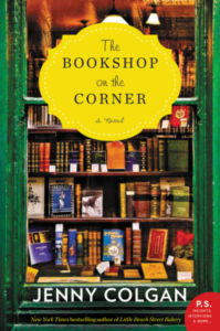 cover image of The Bookshop on the Corner by Jenny Colgan showing a bookstore window