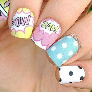 Nail Decals And Wraps For Comic Lovers