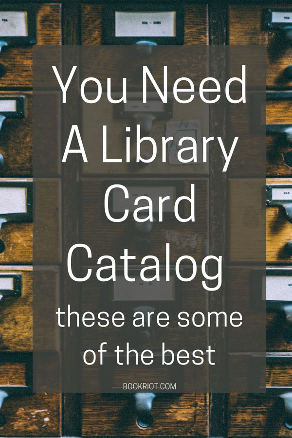 You Need a Library Card Catalog: These Are Some Of The Best   BookRiot.com