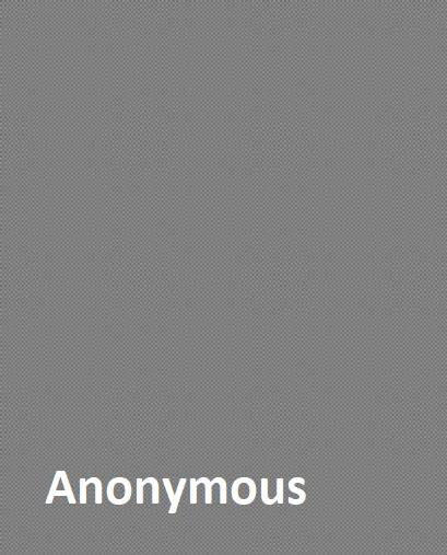 Gray box with white text Anonymous