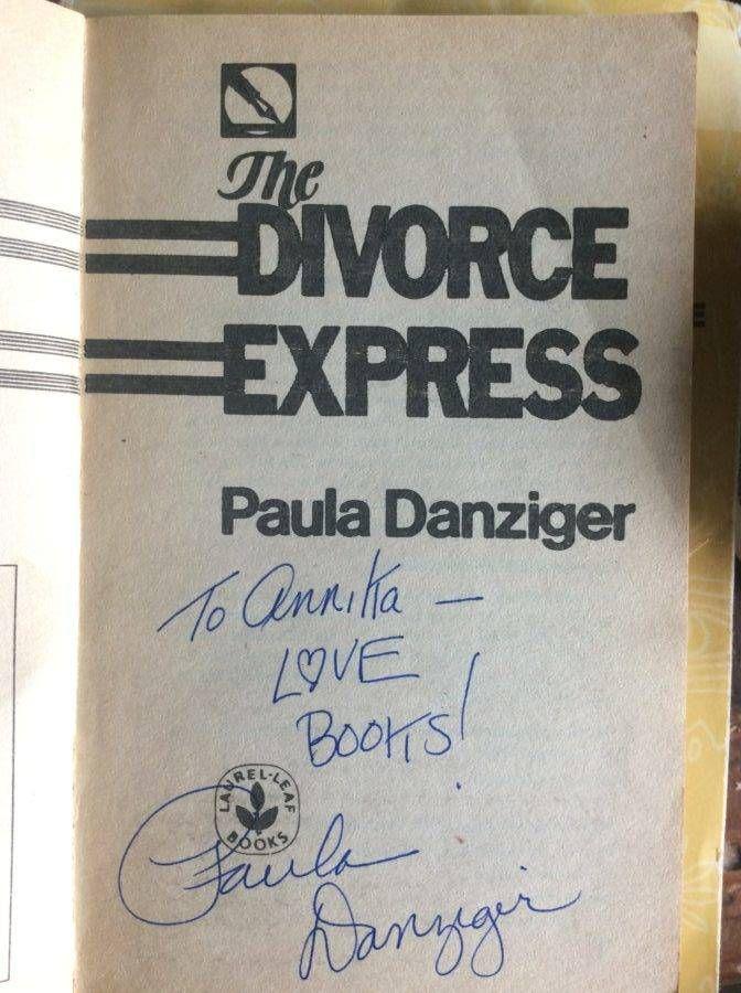 """To Annika— LOVE BOOK! Paul Danziger"""