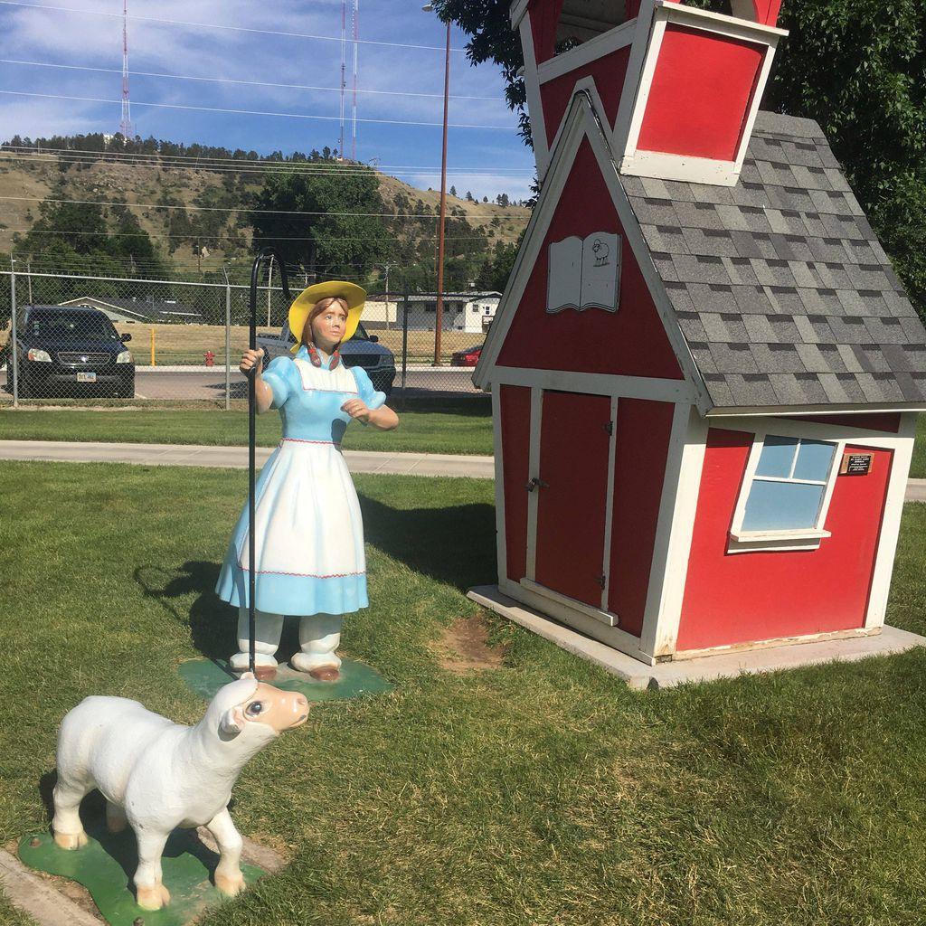 Little Bo Peep at Storybook Island in South Dakota