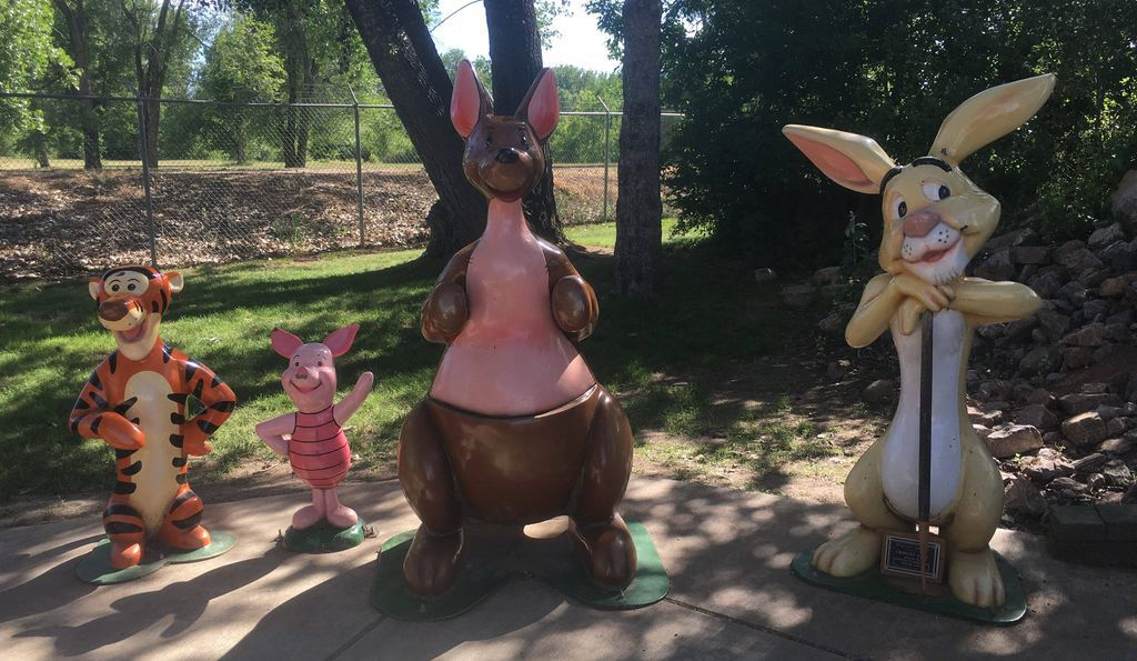 Winnie the Pooh Pals at Storybook Island in South Dakota
