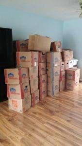 My Bookstore Anniversary: Moving Boxes of Books