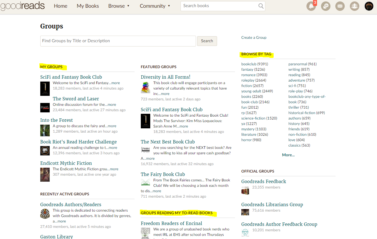 How to Use Goodreads Groups recommend