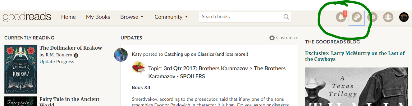 A Guide to Goodreads Groups: Notification and Discussion Buttons