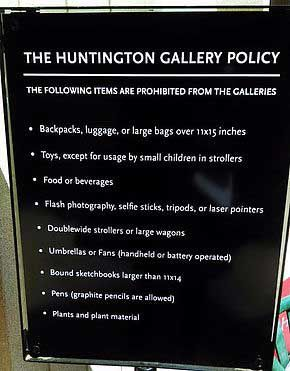 Huntington Library Rules