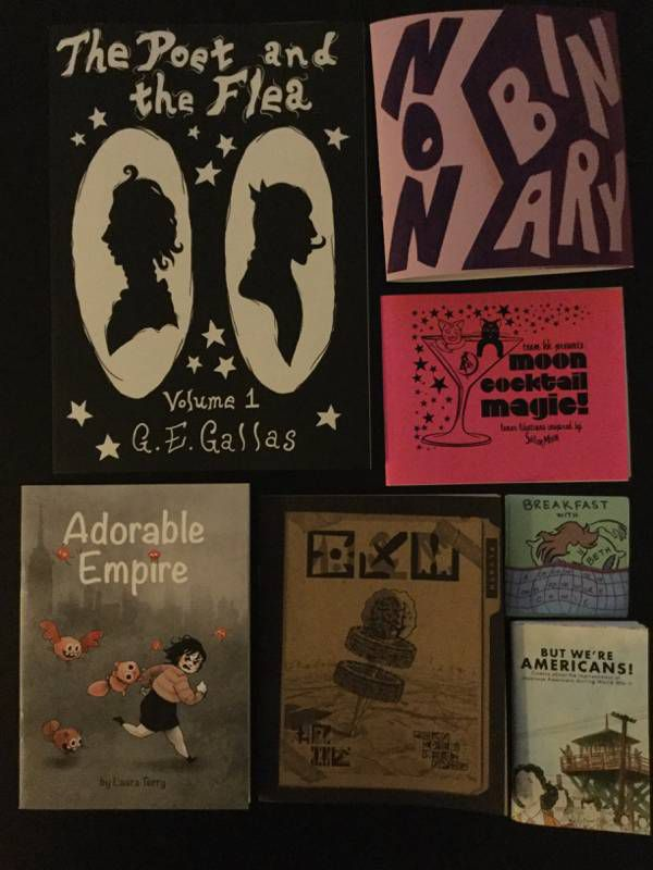 A few of the comic and zines I acquired at SPX