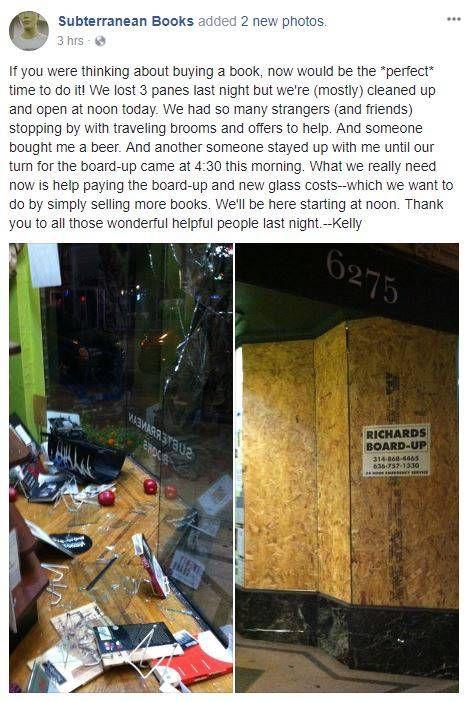 Subterranean Books Damage Statement