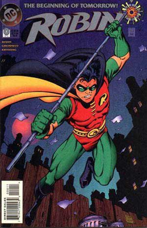 Tim Drake debuting as Robin on a comic cover