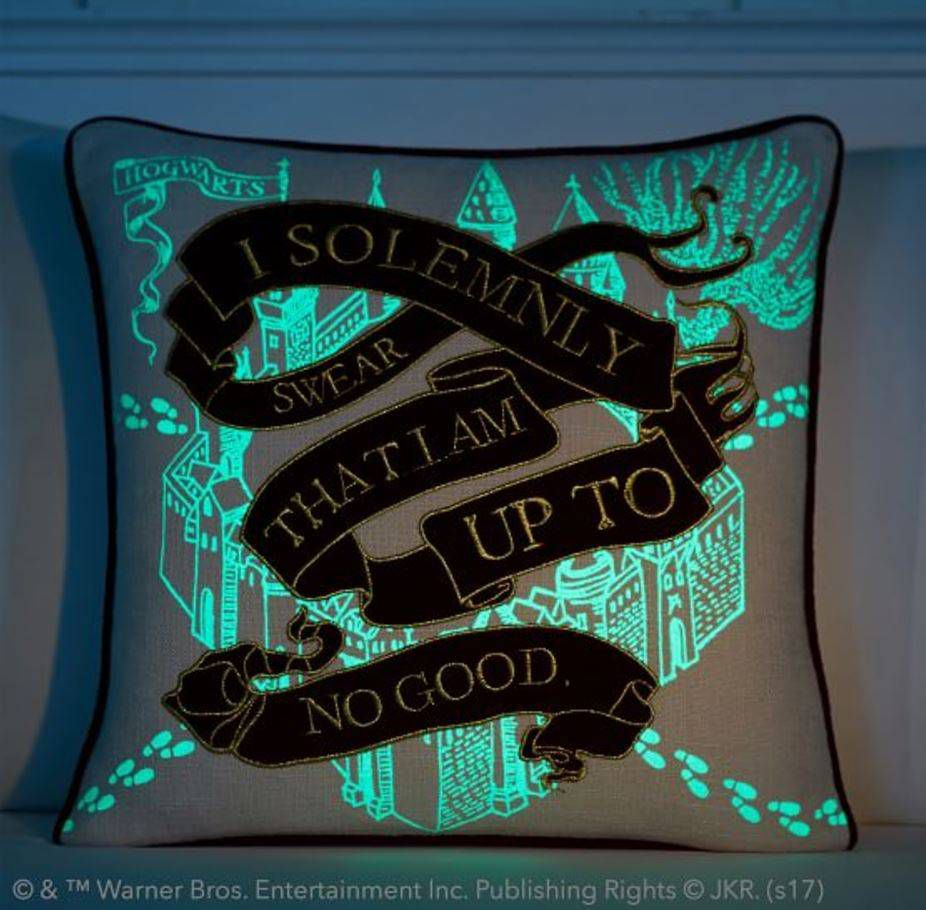 glow in the dark harry potter pillow