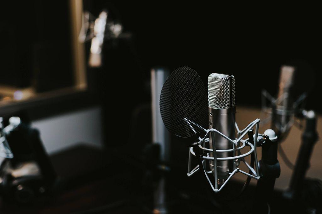 audiobook recording studio microphone