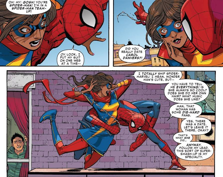 Ms. Marvel and Spider-Man from 15 Superpowered Ladies to Fangirl Over | BookRiot.com