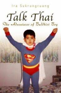 little boy dressed as superman on cover of talk thai by ira sukrungruang