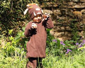Gruffalo Costume from 9 Bookish Kids' Costumes for Halloween (or Character Day) | BookRiot.com