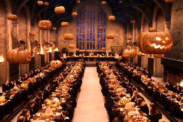 Hogwarts Great Hall Halloween Feast from QUIZ: Test Your Harry Potter Halloween Knowledge | BookRiot.com