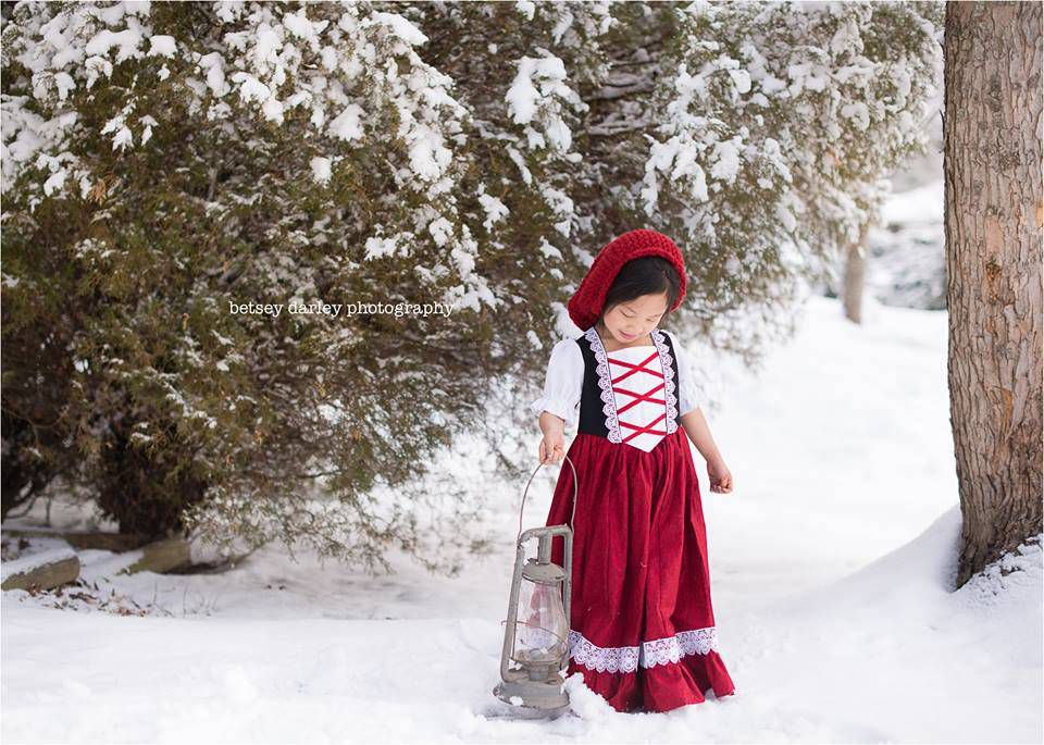 Little Red Riding Hood Costume from from 9 Bookish Kids' Costumes for Halloween (or Character Day) | BookRiot.com