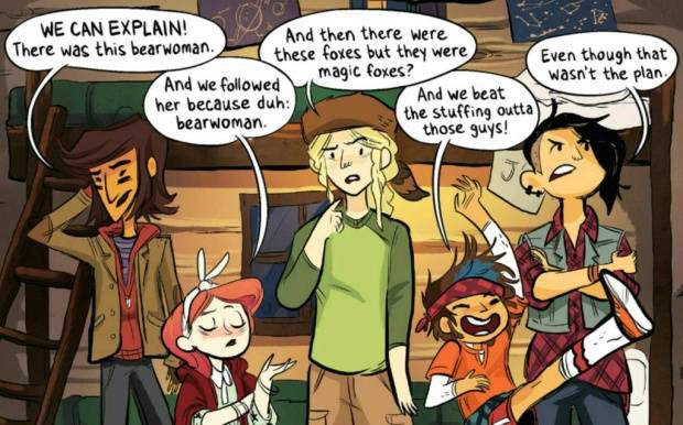 Lumberjanes Panel from Sci-fi and Fantasy Comics to Cure Your Superhero Hangover | Bookriot.com