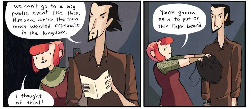 Nimona Panels from Sci-fi and Fantasy Comics to Cure Your Superhero Hangover | Bookriot.com