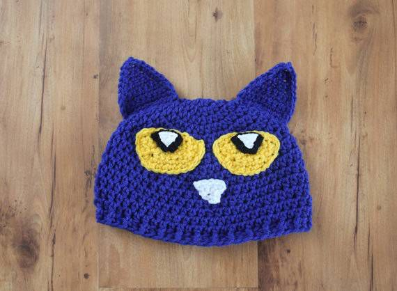 Pete the cat hat from 9 Bookish Kids' Costumes for Halloween (or Character Day) | BookRiot.com