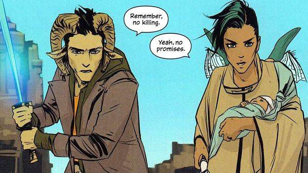 Saga Panel from Sci-fi and Fantasy Comics to Cure Your Superhero Hangover | Bookriot.com