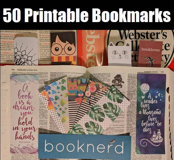 picture relating to Cute Printable Bookmarks called 50 Cost-free Printable Bookmarks for Older people and Young children Bookish