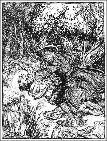 Arthur Rackham Illustration of The Gold-Bug | Bookriot.com