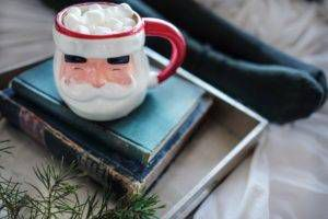 Books with Santa Mug | Holiday Book Exchange