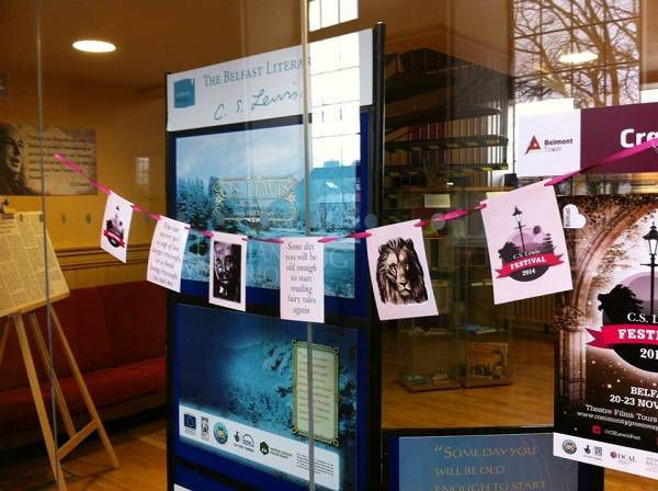 Exhibition at Belmont Tower - part of the C.S. Lewis Trail in Belfast