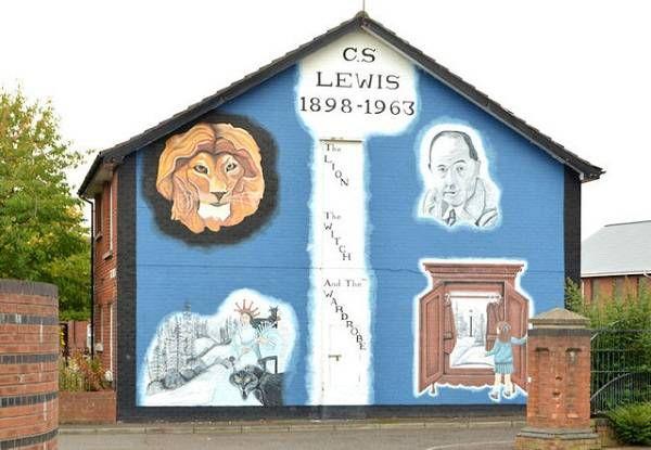 C.S. Lewis Mural in east Belfast.