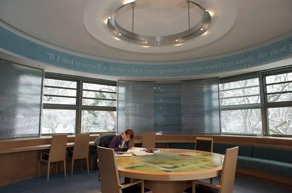 Interior of the C.S. Lewis reading room at Queen's University Belfast