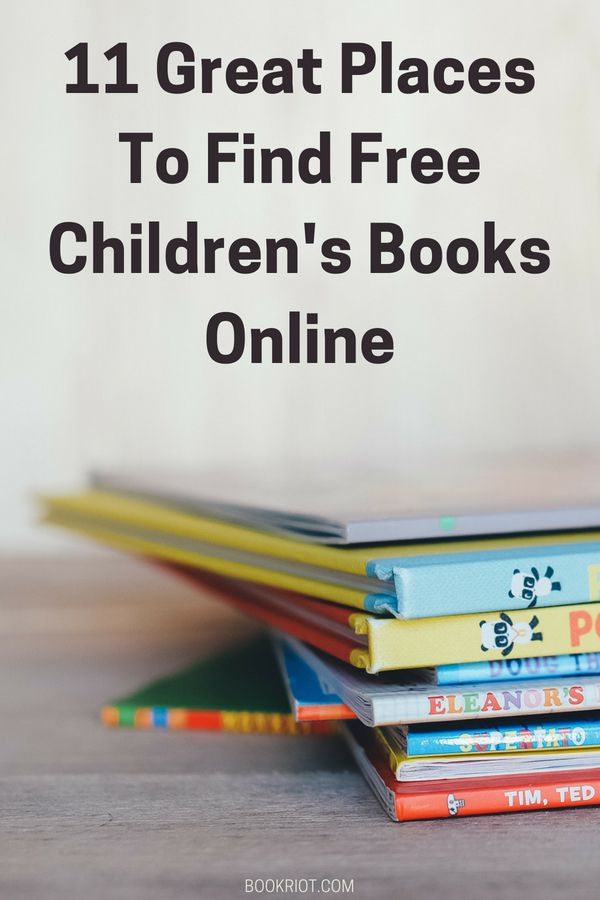 11 Great Places To Find Free Children's Books Online   BookRiot.com