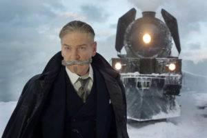 Movie still of Kenneth Branagh as Hercule Poirot in Murder on the Orient Express