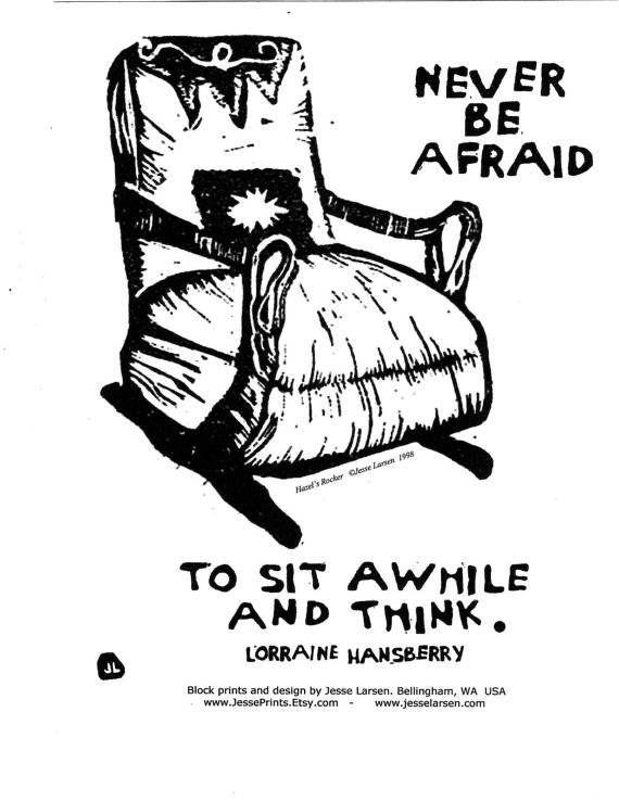 never be afraid lorraine hansberry print image