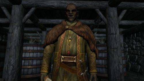 Skyrim screenshot of an orc author