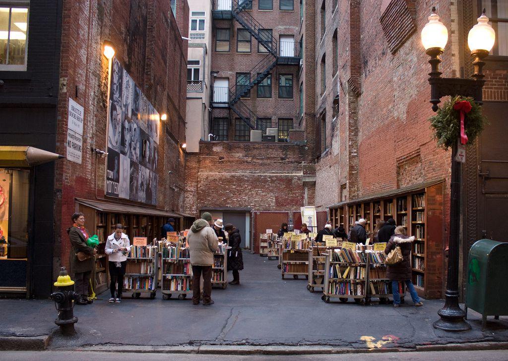 Brattle Book Shop Boston. Literary Boston