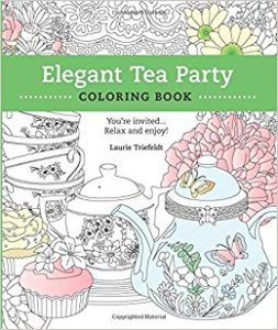 colouring book for international tea day