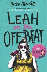Leah on the Offbeat cover from 2018 Bisexual YA Books BookRiot.com