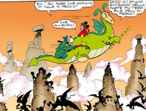 The Reluctant Dragon in Mickey's Inferno