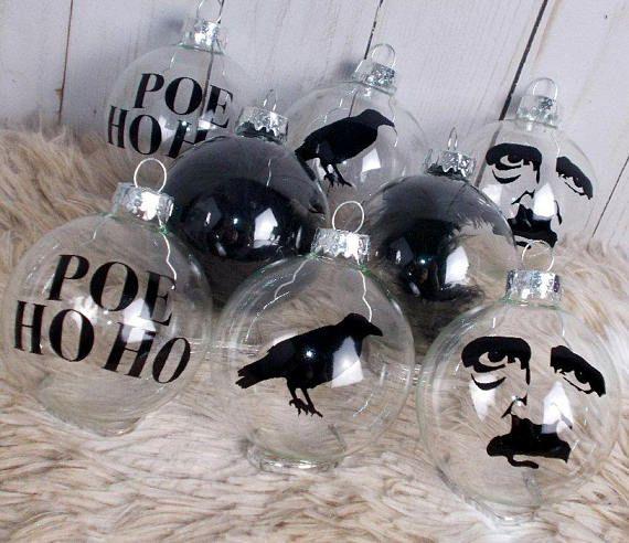 Edgar Allan Poe Christmas Ornaments