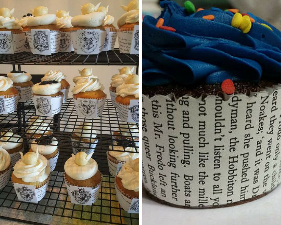 Harry Potter and Lord of the Rings Literary Cupcake Liners